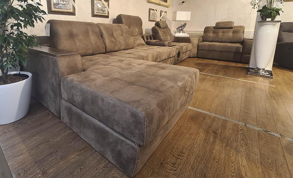 Модульный диван Морфей коричневый в Румянцево